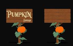 Pumpkin signpost Stock Photo