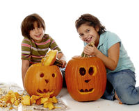 Pumpkin Sisters Royalty Free Stock Photography