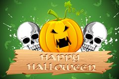 Pumpkin and Skull Royalty Free Stock Images