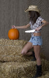 Pumpkin slasher Royalty Free Stock Photos