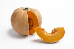Pumpkin with a slice Stock Photography