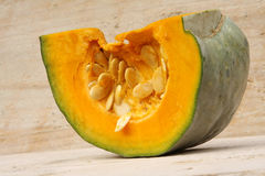 Pumpkin slice, close-up royalty free stock images