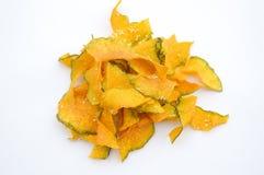 Pumpkin slice fried Stock Images
