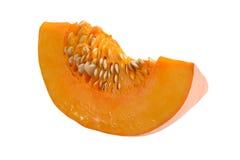 Pumpkin slice. Isolated on white Stock Photos