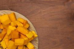 Pumpkin sliced Stock Photo