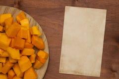 Pumpkin sliced Royalty Free Stock Photo