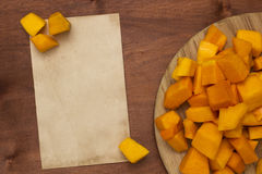 Pumpkin sliced Stock Image