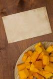 Pumpkin sliced Royalty Free Stock Image