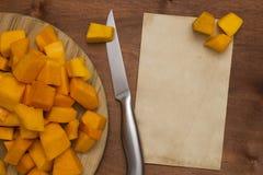 Pumpkin sliced Stock Images