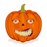 Pumpkin with smile and eyes Stock Photo