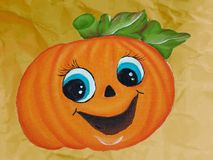 Pumpkin with smile Royalty Free Stock Photography