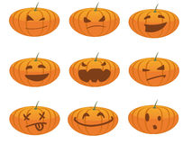 Pumpkin smiles Stock Photo