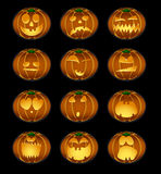 Pumpkin smiles Stock Photos