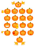 Pumpkin smiles Stock Photography