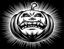 Pumpkin Smiling Halloween Harrasment Horror Spooky Hand Drawing Stock Images