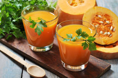 Pumpkin smoothie Stock Images