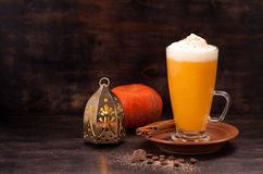 Pumpkin smoothie spice latte Stock Image