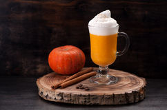 Pumpkin smoothie spice latte Royalty Free Stock Photography