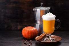 Pumpkin smoothie spice latte. Royalty Free Stock Images