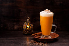 Pumpkin smoothie spice latte Stock Photography