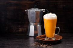 Pumpkin smoothie spice latte Stock Photos