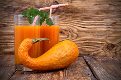 Pumpkin smoothies Stock Images