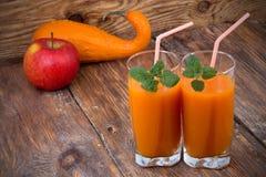Pumpkin smoothies Stock Photo