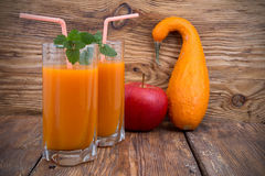 Pumpkin smoothies Royalty Free Stock Photography