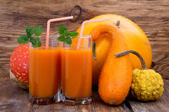 Pumpkin smoothies Royalty Free Stock Images
