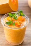 Pumpkin smoothies Royalty Free Stock Image