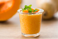 Pumpkin smoothies Stock Photo