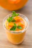 Pumpkin smoothies Stock Image