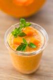 Pumpkin smoothies Stock Image