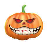 Pumpkin sneer on white background Royalty Free Stock Image