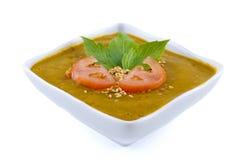 Pumpkin Soup. Homemade roasted organic pumpkin soup Royalty Free Stock Photo