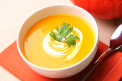 Pumpkin soup Stock Photo
