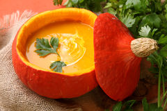 Pumpkin soup Stock Photography