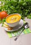 Pumpkin soup Stock Images