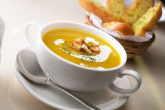 Free Pumpkin Soup Stock Photography - 26336742