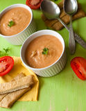 Pumpkin soup. On the board Stock Photography
