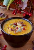 Pumpkin soup Royalty Free Stock Photography