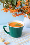 Pumpkin soup. Stock Photo