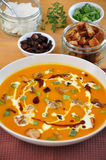 Pumpkin Soup. In a bowl Stock Image