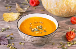 Free Pumpkin Soup Royalty Free Stock Photo - 53905255