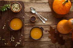 Pumpkin soup Stock Image