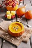 Pumpkin soup. Autumn healthy food Stock Photography