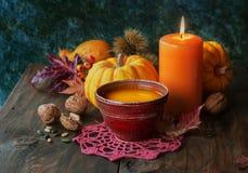 Pumpkin soup Stock Photo