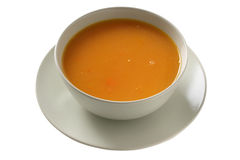 Pumpkin soup in a bowl Royalty Free Stock Images