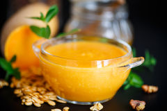 Pumpkin soup in a bowl Royalty Free Stock Photo