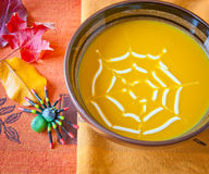 Pumpkin soup in a bowl. Stock Photography